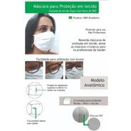 Máscara Lavável Não Descartável Tecido Duplo 100% Algodão