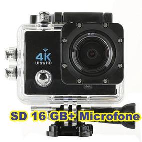 Câmera 4k Sportes + Microfone + Sd 16 Gb By Pato Motos Jr