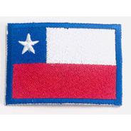 Parche Bandera Chilena Bordado 100%