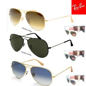 Óculos Ray Ban Rb3025 Aviador Prata Fume Degrade - Óculos no Mercado ... adc3ec10df