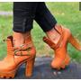 Botines Mujer Tacon Grueso Altos Para Vestido O Pantalon