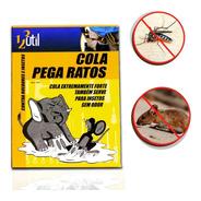 Ratoeira De Cola Armadilha Placa Mata Ratos Pega Ratasanas