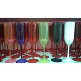20 Taças De Champagne Acrílica Lisas Ou Fosca!!atacado