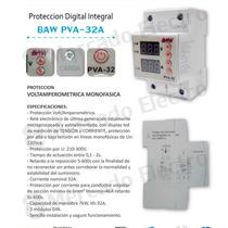 Protector De Tensión Y Corriente Regulable Digital 32 A Baw