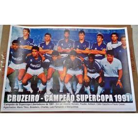 Poster Do Cruzeiro - Campeão Da Supercopa Libertadores 1991