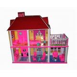 Casas De Muñecas Con Muebles! Super Completa!!