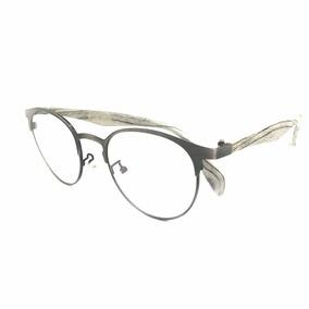 24d6420afbd9d Armação Óculos Para Grau Mescla Redondo 3s Masculino Al-01 · R  85 99
