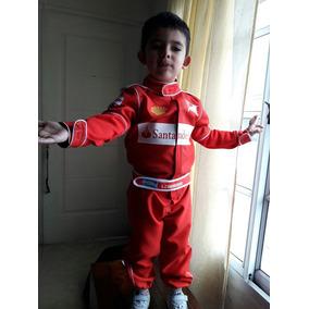Disfraz Piloto Ferrari,corredor De Autos Artesanales!