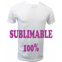 Remeras P/sublimar Por Docena (12) 30%algodon/70%poliester