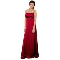 Vestido Largo De Fiesta De Gasa Satén, Mujer, Brishka V-0030