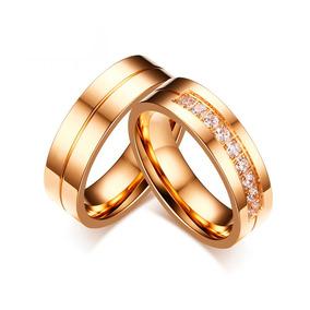 Par De Alianças Folheda Banhada Ouro Reta Casamento Noivado