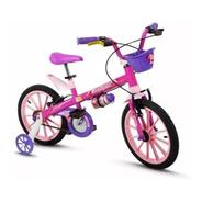 Bicicleta Infantil Nathor Aro 16 Menina Tech Girl 5 A 8 Anos