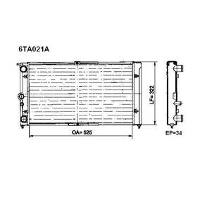 Radiador Água (cada 01 Unidade) Valeo 6ta021a Santana Versai