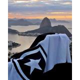 Bandeira Do Botafogo 1.10 X 1.60 Em Plioester Grande Bonita