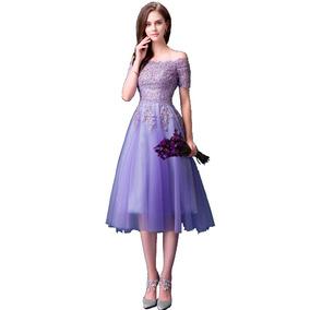 Vestido De Debutante Lilás - 34 36 38 40 42 44 46 - Va00477