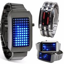 Reloj Raro Touch Led Ninja Lujo Digital Binario Moderno Luz