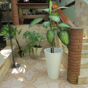 Vaso De Planta Polietileno Redondo 74x47cm