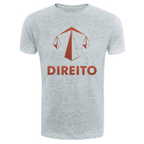 Camiseta Direito - Camisa Universitaria Bandas Cursos