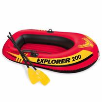Lancha Inflable Con Remos Intex Explorer 200