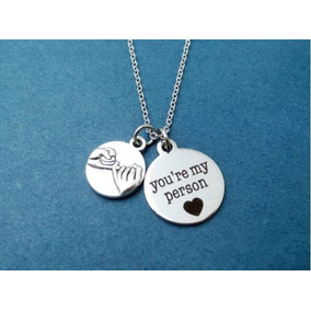 Colar Greys Anatomy You Are My Person Promessa Amizade 1 Pc