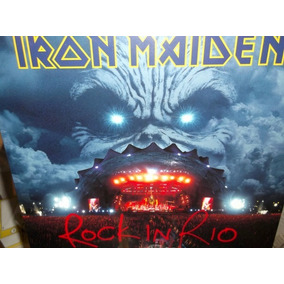 Iron Maiden Rock In Rio Triple Lp Importado Nuevo