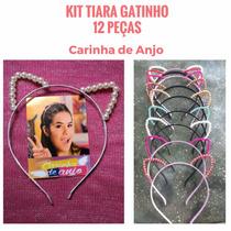 Tiara Gatinho Kit 12 Unidades Carinha Anjo Entrega Imediata