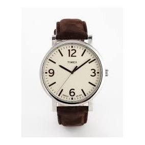 Reloj Timex T2p526 Classic Indiglo Estensible De Piel