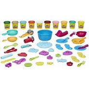 Kit De Chef Con Utensilios Para Cocinita Niños Play Doh 40pz