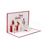 5pc 3d Hecho A Mano Feliz Navidad Muñeco De Nieve Árbol Casa