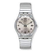 Reloj Swatch Con Malla Elastizada De Acero Gm416