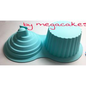 Molde Silicon Cupcake Gigante 5 Mangas Desechables De Regalo