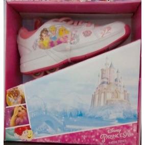 Princesas Patines Tennis Hermosos Niñas Roller Disney T. 20
