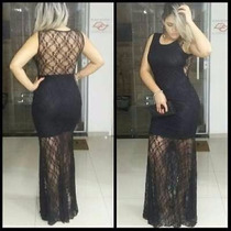 Vestido Lindo Rendado Varias Cores E Tamanhos Ponta Entrega