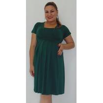 Vestido Gestante Grávida Plus Size Malha Mod.flávia + Brinde