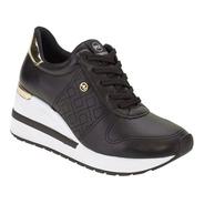 Tênis Feminino Anabela Sneaker Via Marte Plataforma 21-1203d