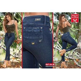 Jeans Pantalones Corte Alto Levanta Cola Originales Colombia