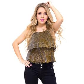 Blusa Dama De Fiesta Brillante