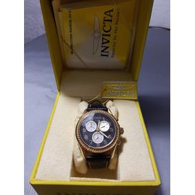 Reloj Dama Invicta Model Angel Dorado/piel 100% Nuevo Y Orig