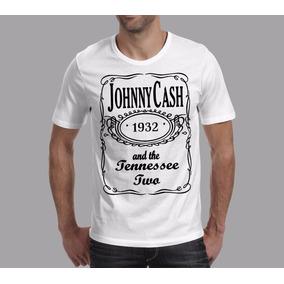 Camiseta Rock Johnny Cash Cantor Jack Daniels Vintage Retrô