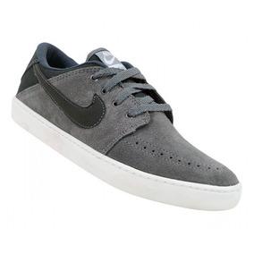 Tênis Nike Suketo Leather Couro Cinza E Grafite