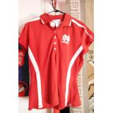 Blusa Pro Celebrty American Team Sports Woman Red Deportes