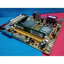 Placa Mãe Asus 775 Ddr2 P5gc-mx+memeria 2gb + Processador