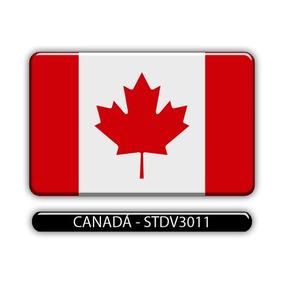 Adesivo Automotivo Bandeira Paises Canada Resinado