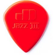6 Palhetas Dunlop Jazz I I I ( Jazz 3 ) Made In Usa Vermelha