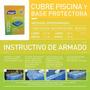 Cubre Pileta Pelopincho 1020 + Base Protectora 1,85 X 1,45