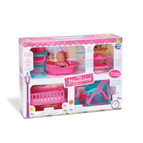 Brinquedo Casinha Mini Miudinhas Infantil Menina Brincar
