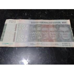 Cédula Nota Rara De 500 Cruzeiros 1979 Circulada