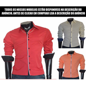 Camisa Social Slim Nacional A Pronta Entrega