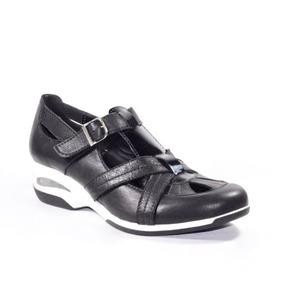 Zapato Feminino Confort Tiras Y Hebilla 100% Cuero Legítimo
