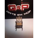Cadeira Balanço Miniatura Para Maquetes